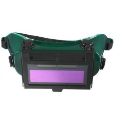 Otomatis Tenaga Surya Gelap LCD Pengelasan Kacamata Welding Masker Pengelasan Kacamata Helm Hijau + Hitam-Internasional