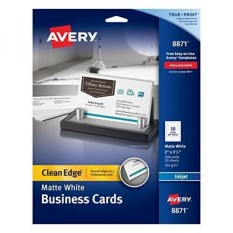 Tepian Tepian Ramah Dua Edge Business Cards untuk Printer Inkjet, Matte, Putih, Paket 200-Intl