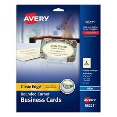 Tepian Tepian Ramah Dua Edge Rounded Corner Business Cards untuk Printer Inkjet, Gading, Paket 160 (88221)-Intl