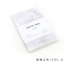 AW Cute Stationery Catatan untuk Membungkam 80 Halaman Marmer Desain A5emptypages Notebook Jurnal DIY Personal Diary Buku Catatan (Greywhite) -Intl