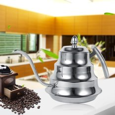 BaBamboo Joint Design Stainless Steel Gooseneck Kettle Kopi Drip Pot Maker (Perak)-Intl
