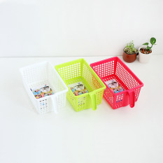 BAFFECT Portable Plastik Keranjang Penyimpanan Dapur Perumahan Buah Kotak Kecil