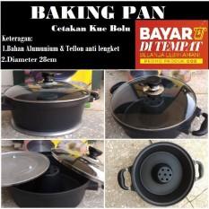 Baking Pan Cake Pemanggang Oven Panggangan Gas Cetakan Kue Bolu 28 Cm By Modernlifeshop.