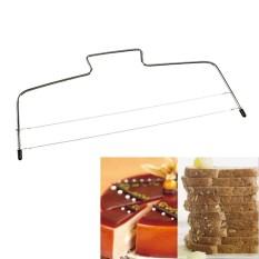 Roti Pastry Tools Adjustable Kawat Kering Slicer Leveler Stainless Steel Slice untuk Kue Lapis Harga Terbaik-Intl