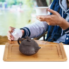 Jual Bamboo Tea Tray Cup Plate Food Dessert Serving Tray Kung Fu Tea Accessory Intl Oem Asli