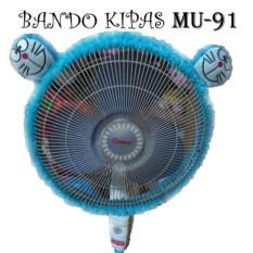 BANDO SARUNG KIPAS Karakter DORAEMON Biru  Aksesoris KIPAS  / BANDO KIPAS / Bandana KIPAS