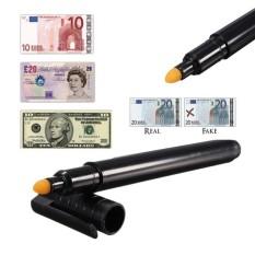 Uang Kertas Checker Pen Uang Palsu Uang Kertas Marker Detektor Palsu Tester Nyaman-Intl