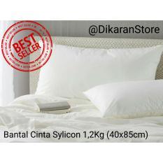 Bantal Hotel Cinta 1.2Kg - Bahan Silicon ANTI KEMPES - JESSELYNE Putih