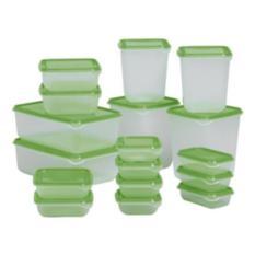 Baru - Ikea Pruta Tempat Makanan Isi 17 Pcs Per Set Kontainer Sayur Kulkas - Fourtyshops