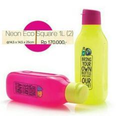 Baru - Tupperware Eco Square Bottle 1 Liter Flip Top Tempat Minum Botol 1Lt L - Fourtyshop