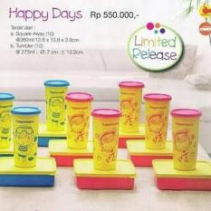 Baru - Tupperware Happy Days (Lunch Box + Tumbler) - Fourtyshop