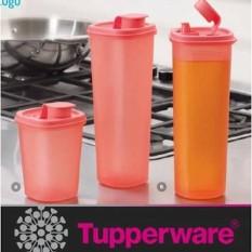 Baru - Tupperware Smart Saver Round Set Tempat Minyak Bumbu Saos Kecap 2 Pcs - Fourtyshops