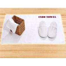 Beli Bath Mat Keset Mandi Hotel Putih Full 100 Premium Katun 50Cm X 70Cm Online
