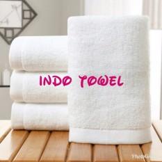 Bath Towel / Handuk Mandi / Renang Hotel Putih Ukuran Sedang Full 100% Premium Katun