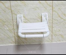 Kamar Mandi Kursi Lipat dengan Penghalang Stool Bathroom Sandaran Tangan Lansia Aman Bath Wall Shower Stool 35*40 Cm-Intl