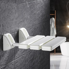 Shower Kamar Mandi Bench Shower Kursi Lipat Kamar Mandi Non-slip Bath Wall Kursi Lanjut Usia And Wanita Hamil Aman Mengganti Sepatu Dinding Stool 32*34 CM-Intl