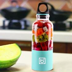 Luar Ruangan Mixer SM USB Portable Otomatis Botol Air Cangkir Minuman Jus Buah Pembuat Jus Pencampur (500 Ml, Biru)