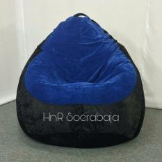 Beli Bean Bag Kursi Santai Pear Mix Legacy Blue Black Cover Only Kredit Indonesia