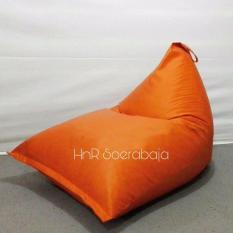 Promo Bean Bag Kursi Santai Triangel Legacy Orange Cover Only Bean Bag Murah Hnr Soerabaja