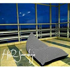Bean Bag kursi santai triangel - Motif garis (cover only) / bean bag murah / kursi pantai