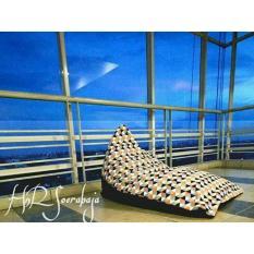 Bean bag kursi santai triangel - Motif segitiga (Cover only) / bean bag murah / kursi pantai