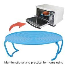 Beau Rak Microwave Baki Stacker Tutup Keren Rack Pemanasan Oven Mengukus Tray Rack Biru-Intl