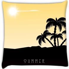 Musim Panas Yang Indah Latar Belakang Secara Digital Dicetak Cushion Cover Pillow 22x22 Inch-Intl