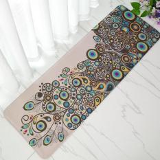 Diskon Keindahan Merak Cetak Anti Slip Lama Karpet Lembut Karpet Dapur Ruang Tamu Kamar Flanel Di Samping Tempat Tidur Lantai Tikar 40 Cm X 120 Cm Internasional Tiongkok