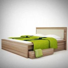 Pro Design - Tempat Tidur 6 kaki Bed 160/180 - Teak  (Khusus kota Medan saja + Free Ongkir)