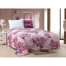 Harga Bed Cover 180X200 Motif Bunga Pink Branded