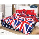 Jual Bed Cover California Motif England King Size 180 X 200 Cm Murah