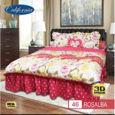 Bed Cover CALIFORNIA motif ROSALBA King Size 180 x 200 cm