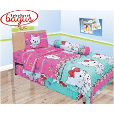 Beli Bed Cover Lady Rose Single 120 Charmy Kitty Lady Rose Asli