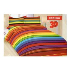 BED COVER SET BONITA 3D KING 180 X 200 RAINBOW / BEDCOVER SET