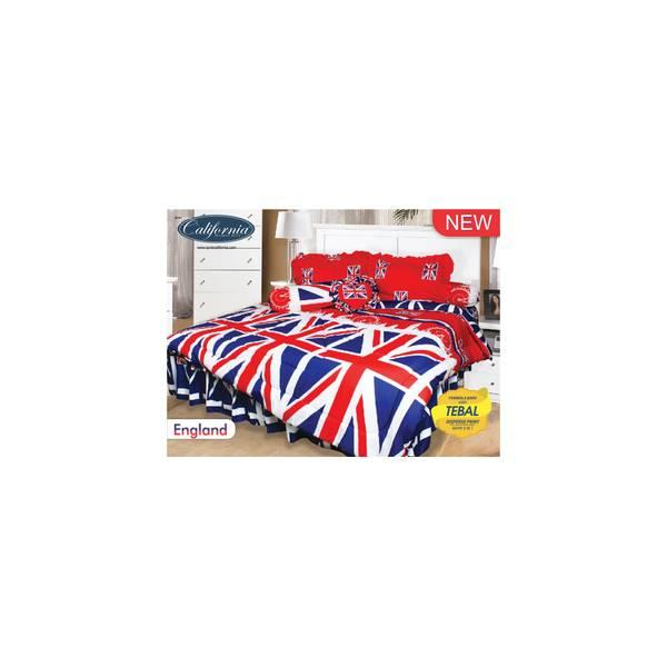 Bed Cover Set California Motif England 180X200 Diskon