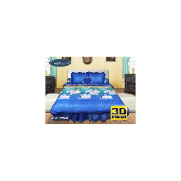 Bed Cover Set California Motif Love Swan 180X200 Diskon