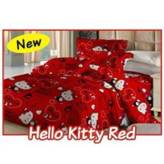 Bed cover set fata hello kitty red 120x200