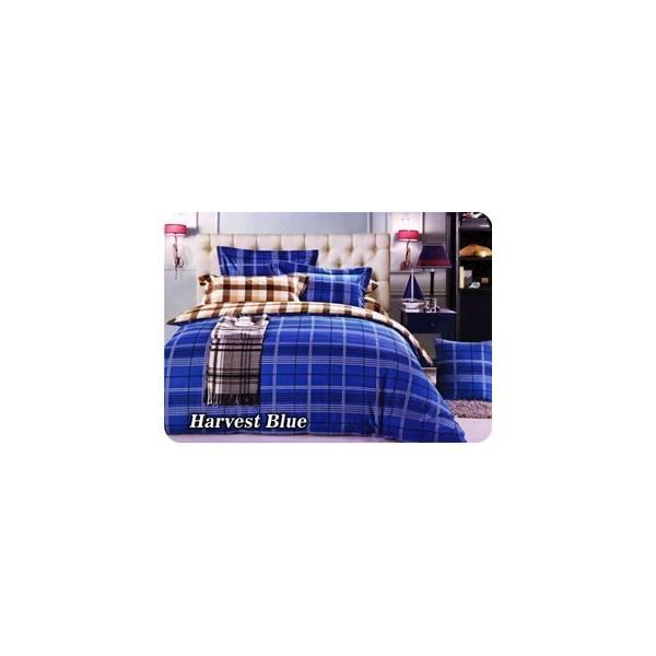 BED COVER SET FATA MINIMALIS MODERN HARVEST BLUE UK.180