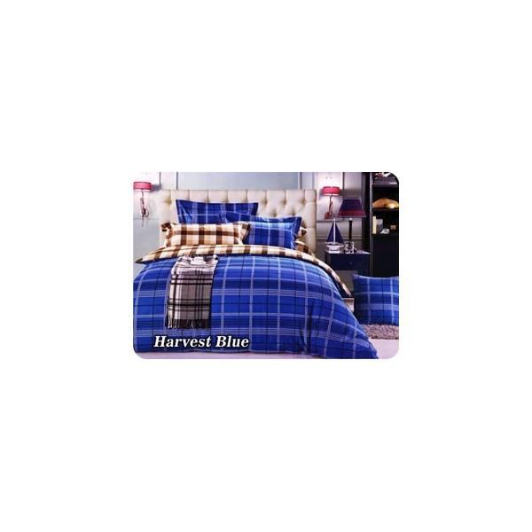 BED COVER SET FATA MINIMALIS MODERN HARVEST BLUE UK.180