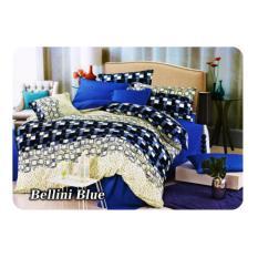 Miliki Segera Bed Cover Set Fata Minimalis Modern Queen 160 King 180 Bellini Blue