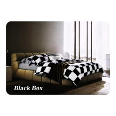 Bed Cover Set Fata Minimalis Modern Ukr Queen 160 King 180 Black Box Bed Cover Cotton Jepang Diskon