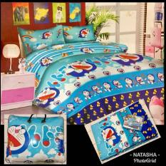 Bed cover set + Sprei motif Doraemon Ukuran King size ( 180X200 )