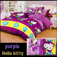 Jual Bed Cover Set Sprei Motif Hello Kitty Ukuran King Size 180X200 Lengkap