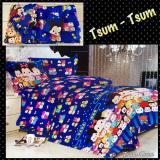 Harga Bed Cover Set Sprei Motif Tsum Tsum Ukuran King Size 180X200 Baru