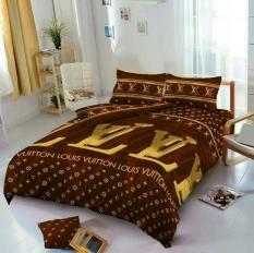Bedcover Set Kintakun D'luxe Sprei Flat Uk.160 X 200 Mo Berkualitas