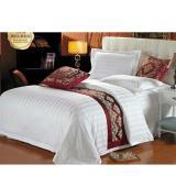 Spesifikasi Bedcover Set Sprei Katun Dolby Motif Salur Putih Uk 180X200X30 Lengkap