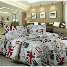 Bedcover Set Sprei Katun Motif London - Inggris Uk 120x200x20
