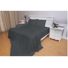 Bedcover + Sprei Vallery Quincy Queen ( 160 x 200 ) Grey