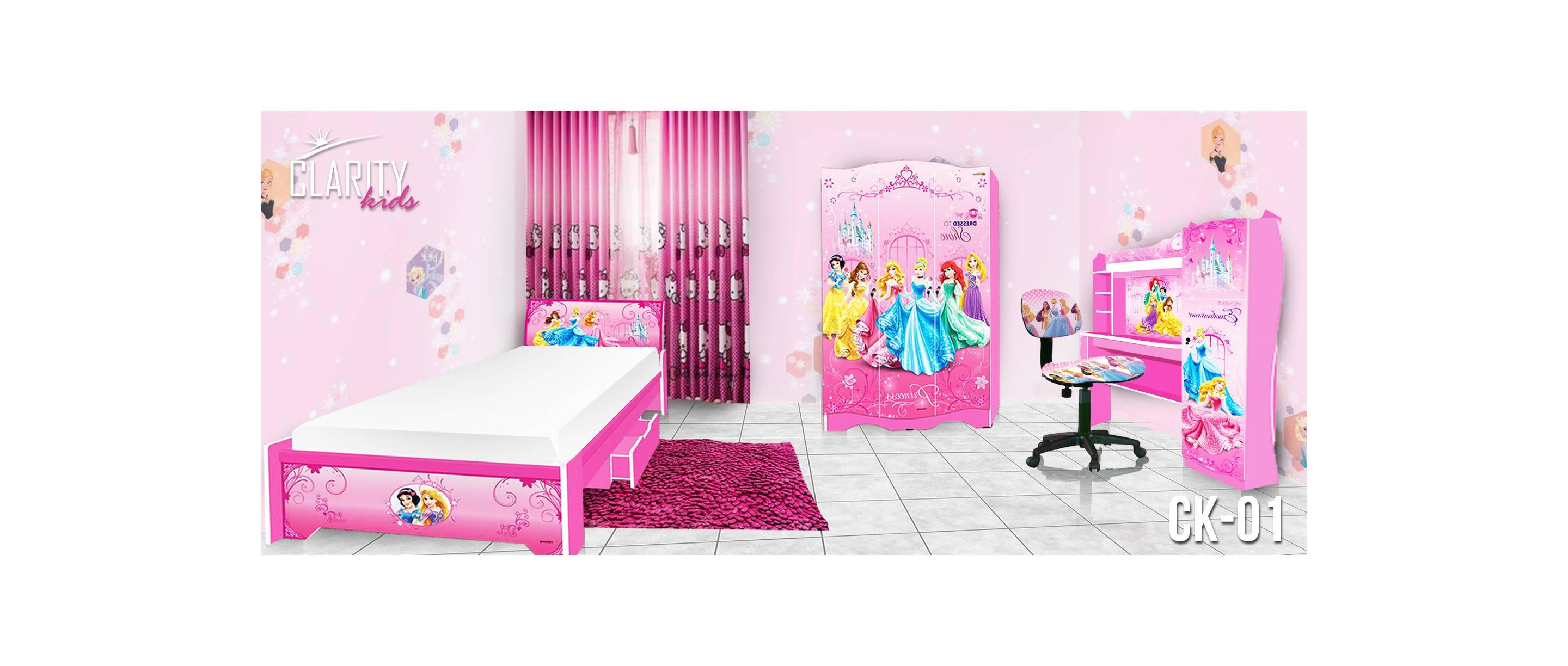 Bedroom Set Clarity Kids Bed Room CK-01 Princess Kamar Tidur Anak