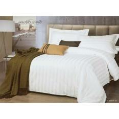 Toko Bella Vista Bed Cover Set Hotel Polos Putih Salur 180 200X200X30Cm Bella Vista